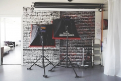Studio 2- Lights and Backdrops