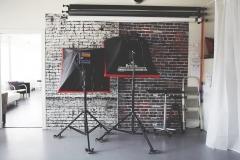 Studio 2- Lights and Backdrops
