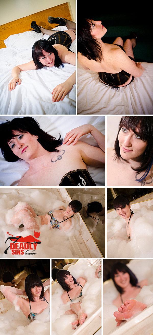 edmonton boudoir bubble bath